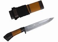 Нож дамаск, ст. White Steel, рук. черн. +борд. обмотка+р
