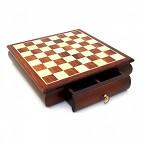 332W Шахматная доска, дерево с инкруст, 33x33x7, 5см