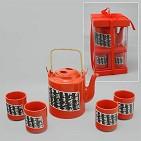 Чайный набор на 4 перс. (1 керам. чайник/4 керам. чашки )