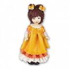 00022 Кукла в оранжевом h15cm
