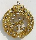 Монограмма Имп. Екатерины II (с хр. swarovski)