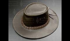 Шляпа ковбойская, коричн. кожа, размер  L