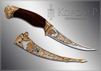 Нож украшенный  СОКОЛ  (О-23)