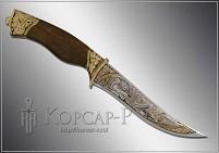 Нож охотничий украшенный  МАТЕРЫЙ  (О-23)