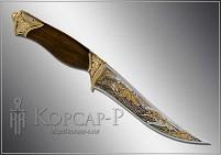 Нож охотничий украшенный  ОХОТА НА ЛИС  (О-23)