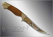 Нож охотничий украшенный  МЕДВЕДИ  (О-23)