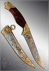 Нож охотничий украшенный  ВОЛК  (О-23)
