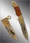 Нож охотничий украшенный  ЛИСИЦА  (О-18)