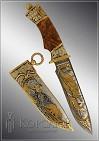 Нож охотничий украшенный  МЕДВЕДЬ  (О-18)