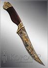 Нож охотничий украшенный  ОЛЕНЬ  дамаск (О-23)