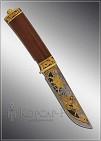 Нож охотничий украшенный  АТАКА  дамаск (О-5)