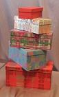 Набор подарочных коробок.