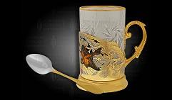 Набор чайный подарочный украшенный «Воробьи»