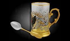 Набор чайный подарочный украшенный «Снегирь»
