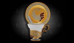 Набор кофейный украшенный  РЯБИНА КРАСНАЯ