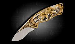 Нож складной украшенный  ТИГР  (О-30)