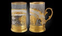 Набор чайный подарочный украшенный «Схватка»