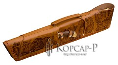 Шампурница из натуральной кожи, мангал, нож, тяпка, шампура 6 шт. , 58 см.  ОРЕЛ