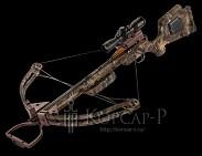 Арбалет Maverick HP, 95lbs, прицел 3xProView 2, кивер на 4 стрелы быстросъёмный, 3 алюминиевые стрелы с тренир. наконечниками, кепка, ДВД, стикер на стекло, цвет камуфляж Mossy Oak Break-up