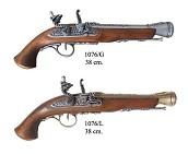 Пистолет кремневый 18 век, латунь