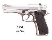 Пистолет  Беретта 92F  , калибр 9 мм. никель