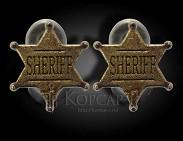 Крепление декоративное  жетон шерифа  (пара)