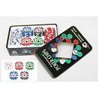 Набор покерных фишек с номиналом в жестяной коробке (100 фишек 11, 5 гр)
