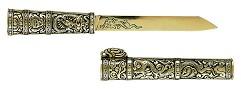 Кинжал монгольский, металлическ. XIXвек, серый