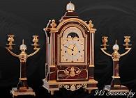 Часы украшенные с канделябрами