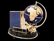 Сувенир с глобусом с фирменной символикой  ГАЗПРОМ