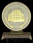 Медаль на подставке украшенная  МОСКОВСКАЯ ГОРОДСКАЯ ДУМА