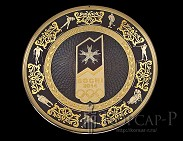 Панно на металле с фирменной символикой  СОЧИ 2014  украшенная 170мм.