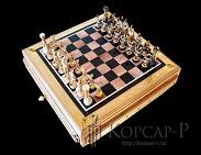Шахматы украшенные подарочные  РУСЬ