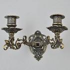 Канделябр настенный на 2 свечи  антик
