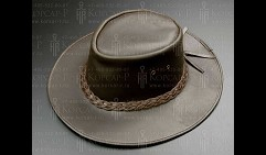 Шляпа кожаная ковбойская, размер M