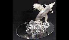Композиция Пара дельфинов (на стеклянной базе), Linea Regalo