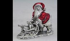 Статуэтка Санта Клаус с санями