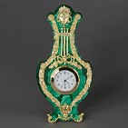 Часы-рамка  Альгамбра  малахит, Французская позолота.
