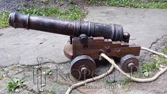 Корабельная пушка (Эпоха правления Петра I). Бронза.
