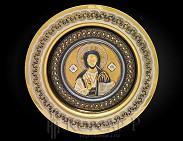 Православное панно-тарель. Украшенное.