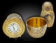 Часы - матрешка украшенные  ГАЗПРОМ