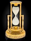 Часы песочные украшенные  ГАЗПРОМ