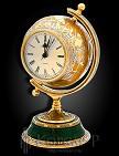 Часы украшенные каминные  ЗОЛОТОЙ ГЛОБУС