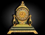 Часы украшенные каминные БЛЕСК