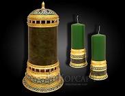 Набор с подсвечниками и лампой украшенный подарочный  ЛУЧ СВЕТА