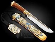 Нож украшенный  ШАХЕРЕЗАДА  . На подвесе. Авторская работа.