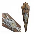 Трофей панно с 3-мя мечами