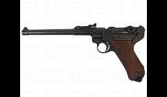 Пистолет  Люгер  P08 артиллерийский, Германия, 1917г. 1-я и 2-ая МВ, дер. накладки на рукоять