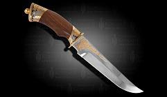 Нож украшенный в кожаных ножнах  СЛАВНЫЙ