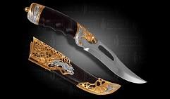 Нож украшенный  ДИКИЙ